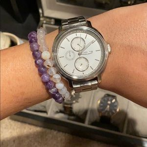 *REDUCED* Silver Fossil Watch